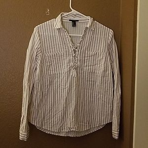 Long Sleeve Stripe Blouse